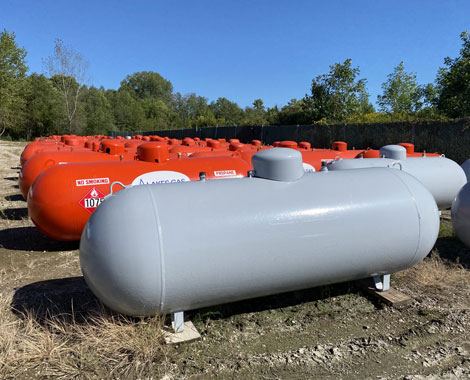 temporary propane tanks